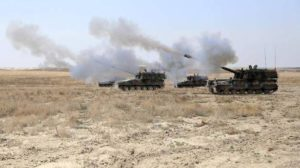 المدفعية التركية مستمرة بقصفها لمواقع القوى المنضوية تحت قوات سوريا الديمقراطية