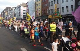 الجالية الكردية في المانيا تتظاهر وتعتصم تنديداً بالجرائم التركية