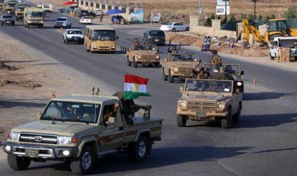 شاحناتٌ عسكرية ترفع علم إقليم كُردستان تتوجّه نحو جرابلس من الداخل التركي .. ومستشار PYD يعتبر ذلك التّحرّك بمثابة النّفخ في الاقتتال الكُردي- الكُردي