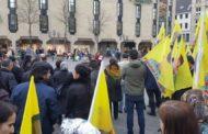 مئات الكُردستانيون يتظاهرون في المانيا احتجاجاً على تدخل بيشمركة روج في شؤون شنكال