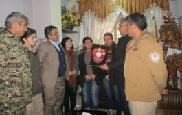The defense and self-protection delegation visit the PYD`s relationships office