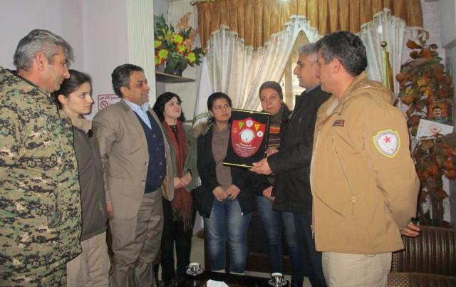 Photo of The defense and self-protection delegation visit the PYD`s relationships office