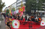 To condemn the Turkish aggression against peaceful events permeated Germany