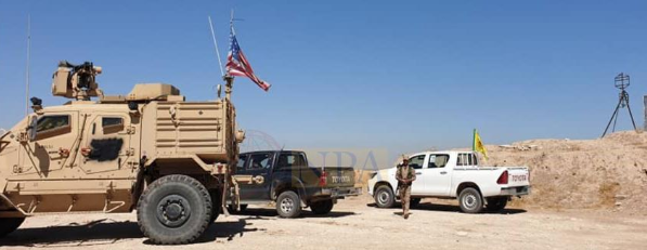 Photo of U.S. Troops Patrol with Serekaniye Military Council