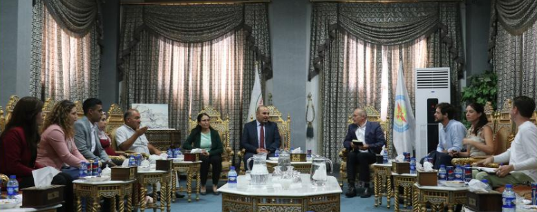 Photo of British Delegation in Kobani Canton