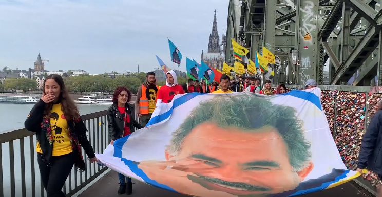 Photo of March for Leader Öcalan in Bonn