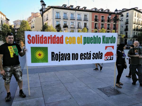 Photo of In Solidarity With Rojava Revolution Actions All Around World