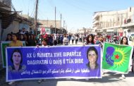 Demonstration in Gire Spi Canton Against Turkish Occupation Threats