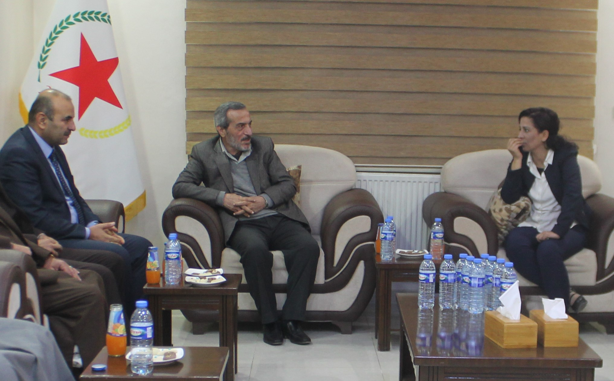 Photo of The Co-chairs receives a delegation from the Syrian Kurdish Democratic Party