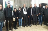 A delegation from the Syriac Union congratulates our party for convening its eighth conference
