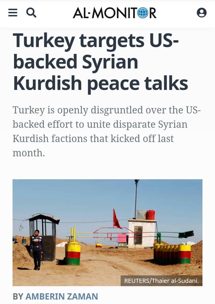 Photo of Al-Monitor: Turkey is bothered by Syrian Kurdish-Kurdish dialogue
