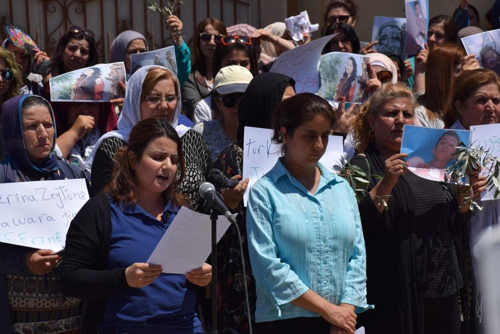 Photo of Afrin women demand for immediate action to end violations that occur in Afrin