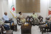 Our party receives the Future Syria Party in its public center