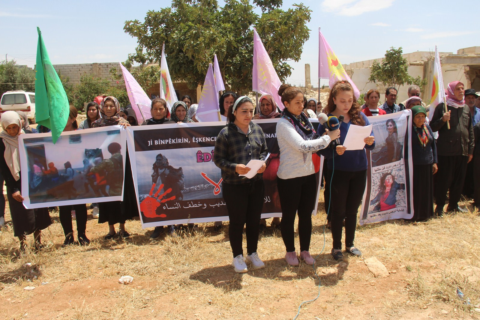 Photo of Yezidi Women Union liken occupation crimes to the brutality of ISIS mercenaries