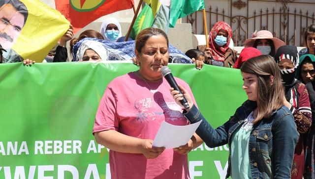Photo of Jina ciwan ya PYD êrîşên Tirkiyeyê li ser gelê Kurd şermezar kir