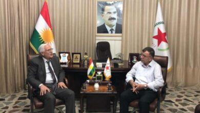 Photo of Nûnertiya partiya me li herêma Kurdistanê pêşwaziya şandek ji Partiya Yekîtî ya Demokrat dike