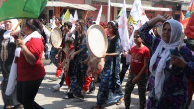 Photo of Şêniyên Qamişlo êrîşên Tirkiya li ser Herêmên Parastina Rewa şermezar kirin