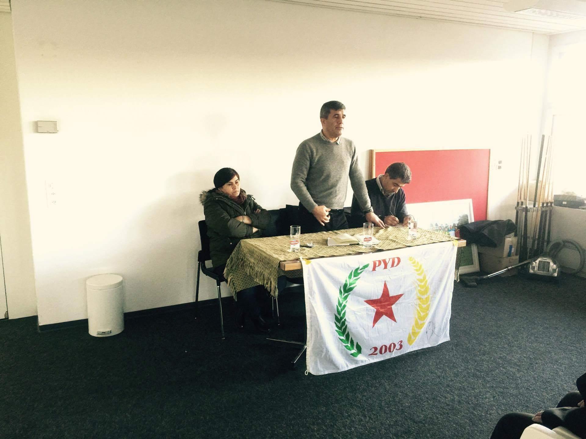 اجتماع لحزب الاتحاد الديمقراطي PYD في سويسرا