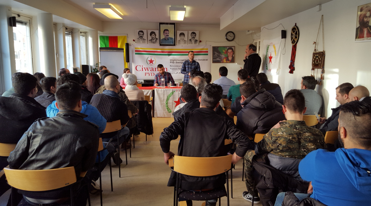 منظمة الشبيبة لحزبنا PYD في السويد تعقد كونفرانسها الثاني