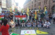 الـ PYD يتظاهر ويعتصم في المدن الألمانية تنديداً بالتفجير الإرهابي