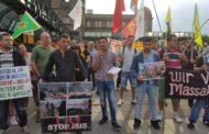 بالصور: الكُرد في هامبورغ الالمانية يتضامنون مع قامشلوا