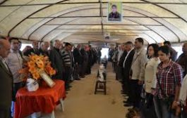 الـ PYD تزور خيمة عزاء الشهيد حسين شاويش