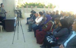 تنظيم المرأة في الـPYD يعقد اجتماعاً في ديريك للتعريف بيوم 25 تشرين الثاني