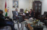 ممثلية الـ PYD في باشور تستقبل نائبة في البرلمان العراقي