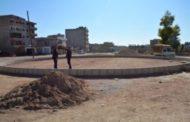 قامشلو- بلدية الحي الغربي تعمل على إنشاء ثلاث ساحات
