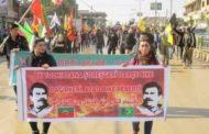 شبيبة الـ PYD يشاركون في فعاليات استنكار يوم 15 شباط  (اليوم الأسود)