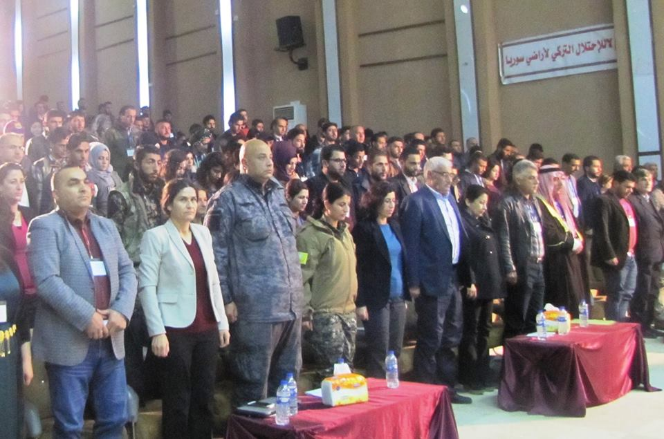 Photo of ممثلين عن تنظيم شبيبة الـPYDفي مؤتمر تأسيسي لشباب سوريا الديمقراطي