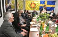 صالح مسلم وممثلية الإدارة الذاتية في السويد تحت شعار