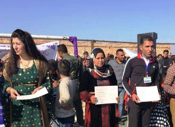 Photo of المرأة في نادي برخدان تشارك في مهرجان بمخيم اللاجئين في الهول