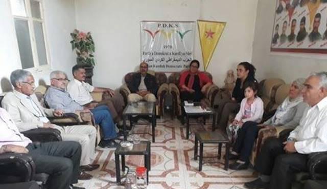 Photo of الـ PYD في عفرين يزور الحزب الديمقراطي الكردي السوري