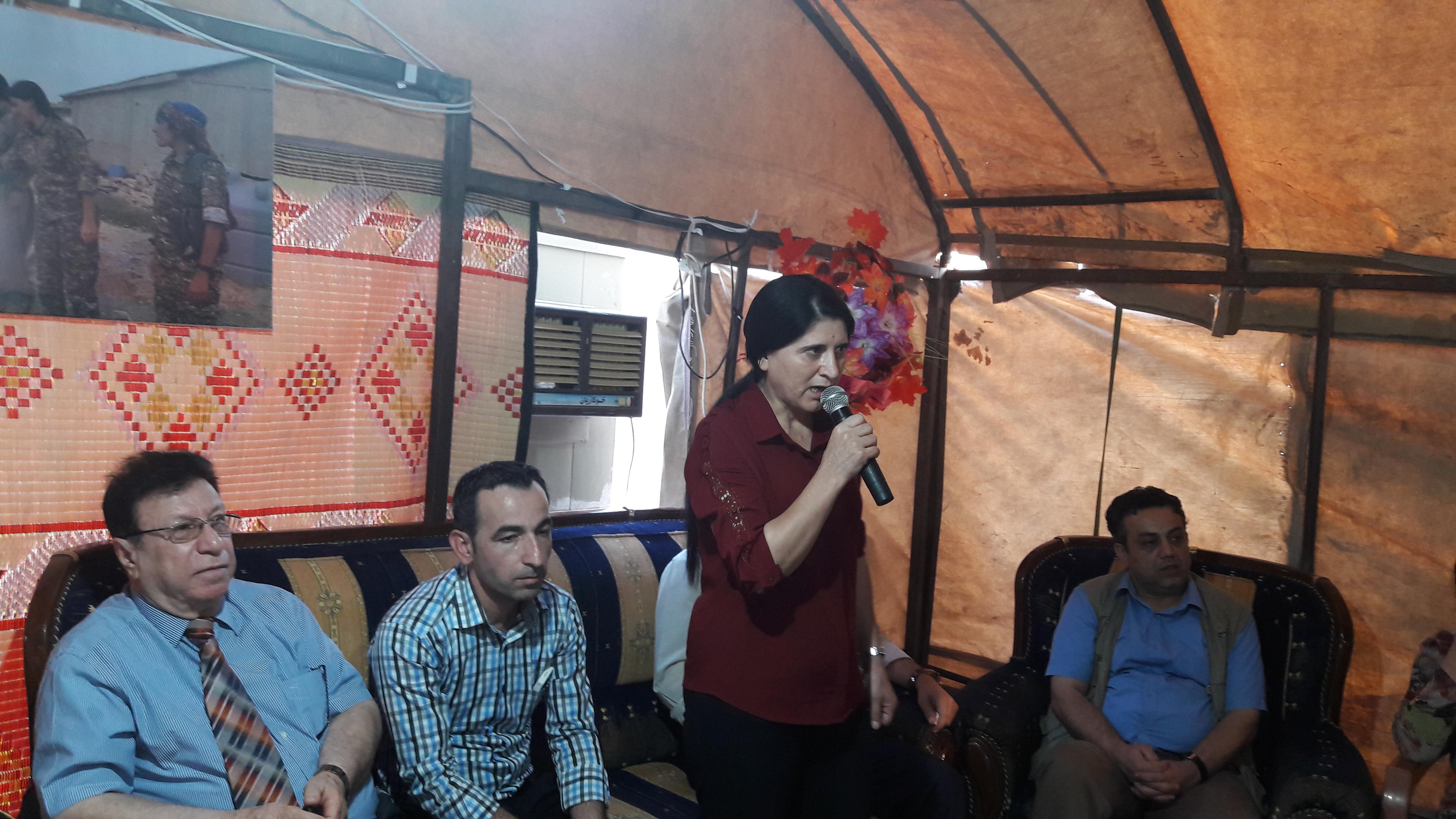"Photo of وفد من الـ PYD يزور خيمة عزاء ""الشخصية الوطنية المرحوم ملا بشير"""