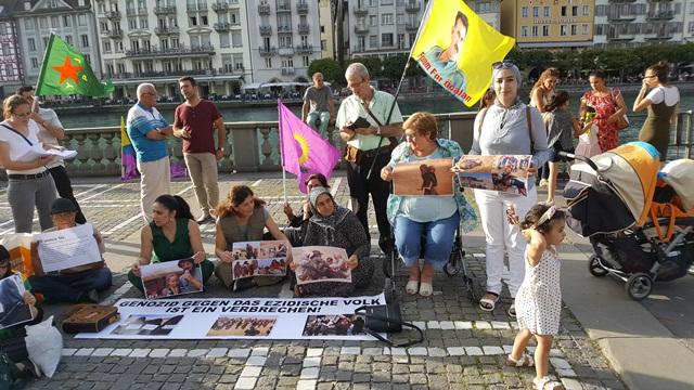 Photo of الـ PYD تستذكر مجزرة شنكال باعتصام في لوتسرن
