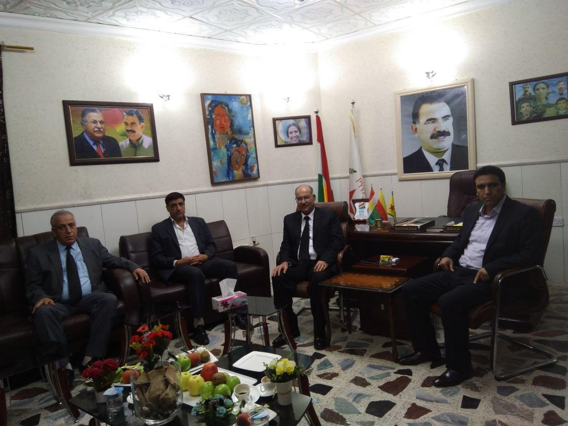 Photo of التحالف الكردي يزور ممثلية الـ PYD في باشور