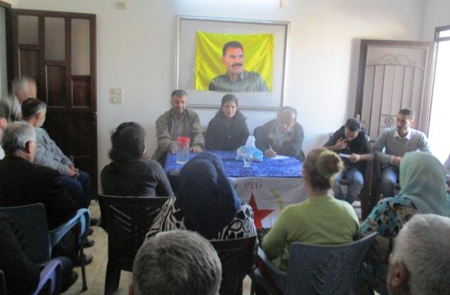 Photo of حزب الاتحاد الديمقراطي يعقد اجتماعاً لأعضائه في ناحية تربسبيه