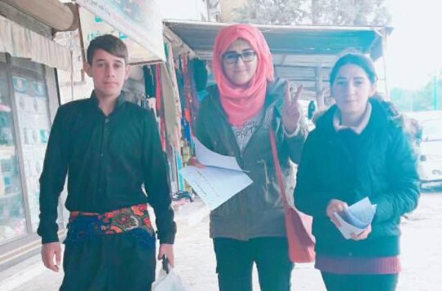 Photo of شبيبة الـ PYD تستمرّ في فعّاليّاتها ضمن حملة ''انتفضوا''