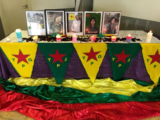 Photo of تحت شعار عفرين ليست وحدها منظمة المرأة في الـ PYD تنظم مراسم للشهداء في المدن الأوروبية