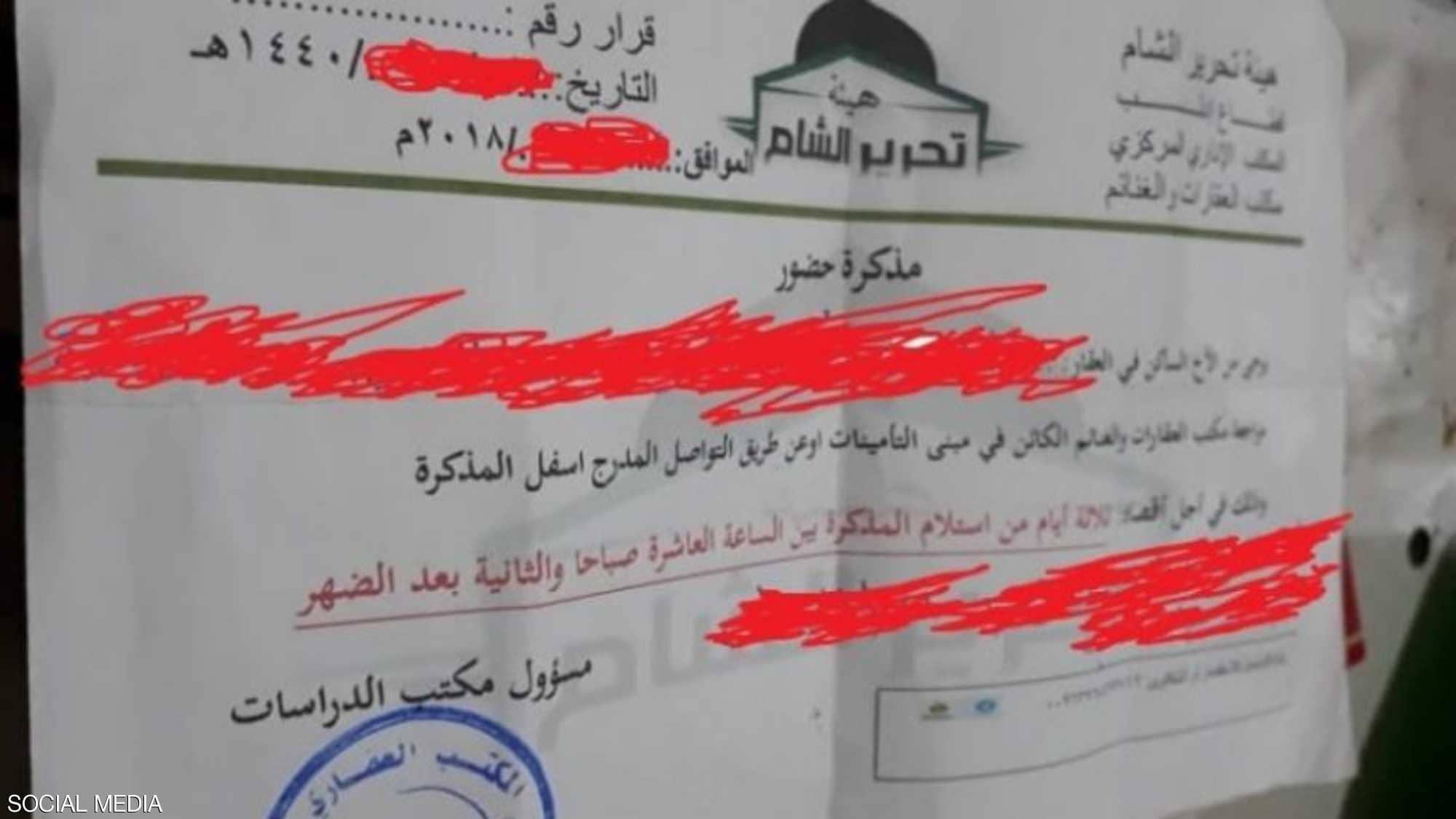 Photo of تحرير الشام تسلب مسيحيّ إدلب عقاراتهم