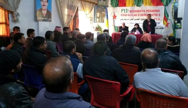 Photo of الاتحاد الديمقراطي يعقد الاجتماع الموقع لبلدة زركان