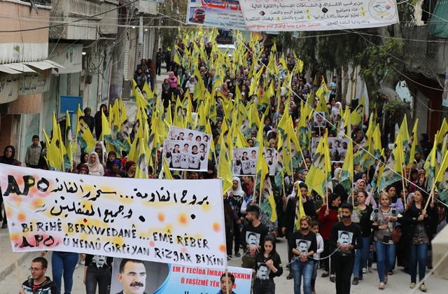 Photo of الاتحاد الديمقراطي ينظم مسيرة جماهيرية في الشيخ مقصود
