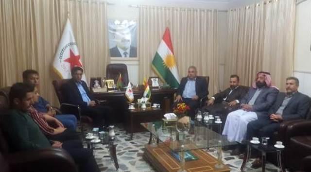 Photo of ممثلية الـ PYD في باشور كردستان تستقبل وفداً من حزب الحرية والديمقراطية الايزيدي