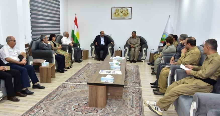 "Photo of وفد روج آفا يلتقي بقادة الحزب الديمقراطي الكردستاني ""حدك"""