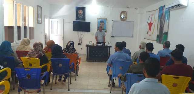 Photo of الاتحاد الديمقراطي يفتتح دورة تدريبية لأعضائه في ناحية تل حميس