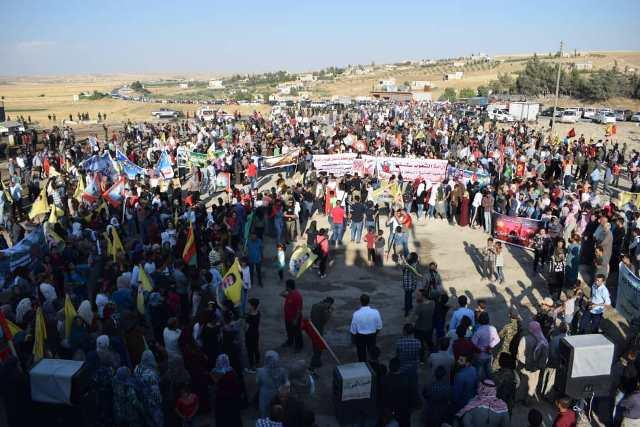 Photo of اعتصام الألاف من أهالي شمال وشرق سوريا تنديداً بالاحتلال التركي