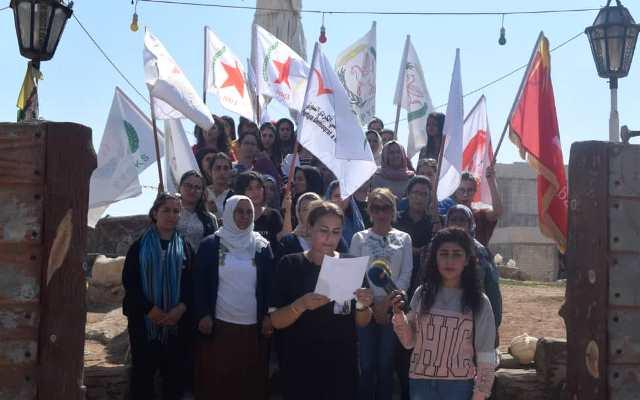 Photo of نساء الأحزاب السياسية بإقليم الفرات ينددن بالتهديدات التركية