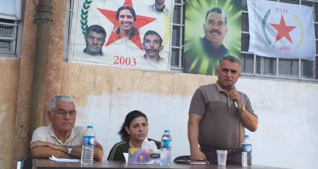 Photo of حزبنا يعقد اجتماعاً جماهيرياً في الناحية الشرقية لمدينة الحسكة