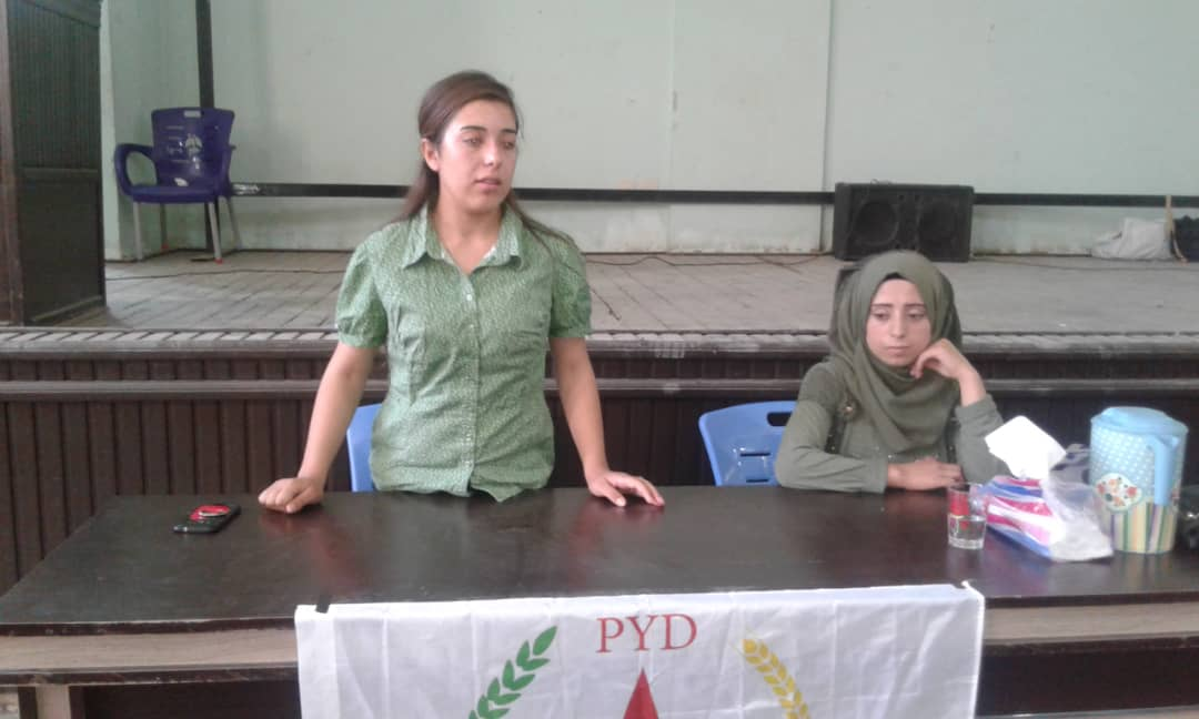 Photo of اجتماعٌ لأعضاء شبيبة الحزب في ناحية صرين التابعة لمقاطعة كوباني